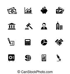 //, fekete, &, ügy, sorozat, ikonok, pénzel