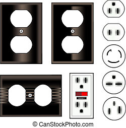 fekete, electrical kivezetés