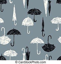 fekete, fehér, esernyők, motívum
