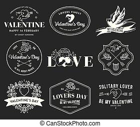 fekete, fehér, valentines, szeret