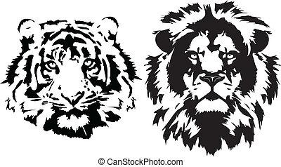 fekete, gazdag koncentrátum, tiger, oroszlán
