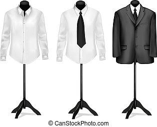 fekete, ing, illeszt, fehér