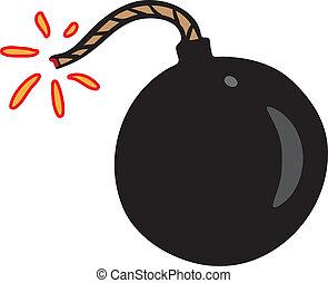 fekete, kevés, bombáz, szikra