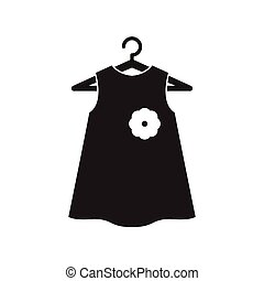 fekete, kevés, vállfa, ruha
