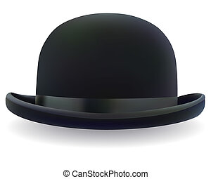 fekete, kuglizó kalap