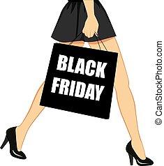 fekete, péntek, bevásárlás