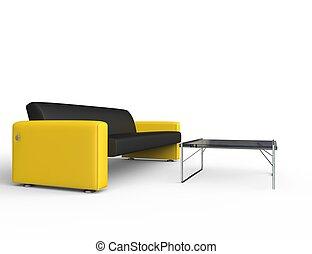 fekete, sárga kushad