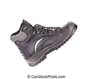 fekete, sport, boot.