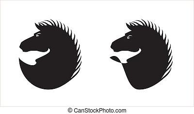 fekete, szőrös, finom, ló