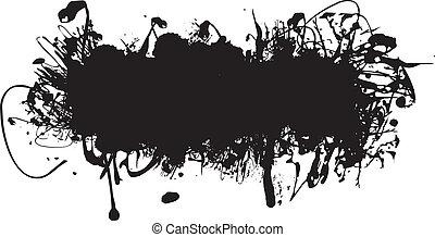 fekete tinta, loccsanás