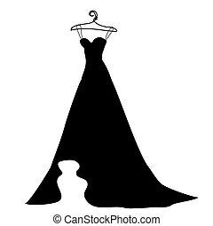 fekete, white ruha, tervezés, esküvő