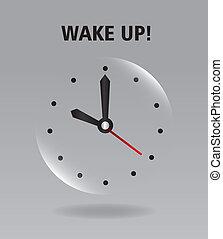 feláll, ébred