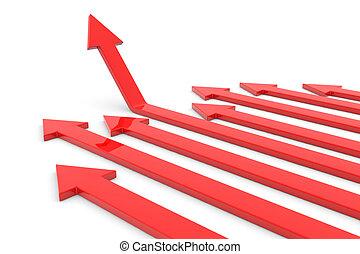 feláll., fogalom, growth., nyíl, siker
