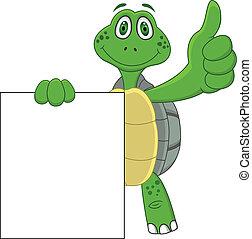 feláll, karikatúra, tengeri teknős, lapozgat