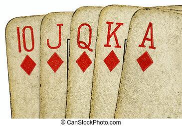 feláll., piszkavas, öreg, szüret, királyi pirul, kártya, becsuk