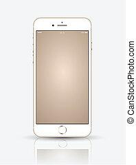 feláll., smartphone, arany, gúnyol