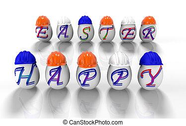 felírás, húsvét, render, ikra, -, 3, vidám easter, átmérő