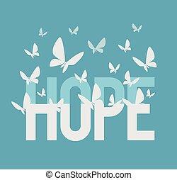 felírás, remény