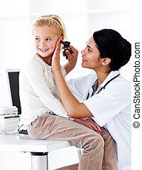 felülvizsgálni, kevés, vigyáz, leány, csinos, orvosi