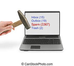 felbosszant, spam