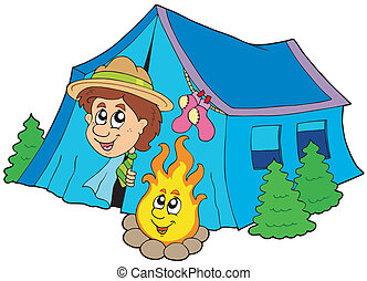 felderítő, kempingezés sátor