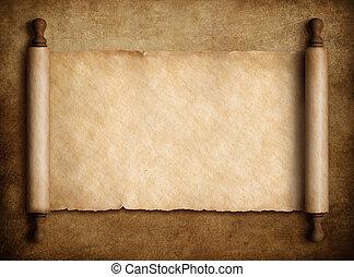 felett, újság indadísz, öreg, háttér, ábra, pergament, 3