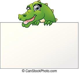 felett, aláír, látszó, krokodil, bizottság, birtok, tiszta, karikatúra