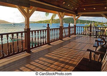 felett, caribbean, erkély