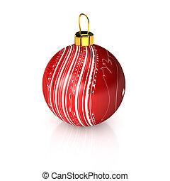 felett, labda, karácsony, fehér