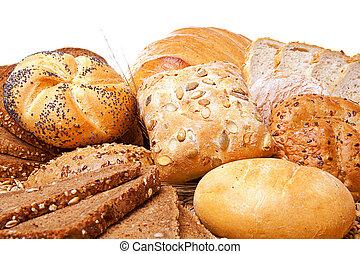 felett, osztályozás, fehér kenyér, sült