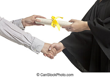felfogó, diploma