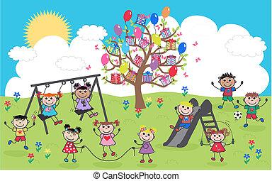 felfordulás etnikai, gyerekek, boldog