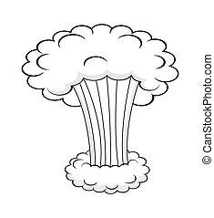 felhő, dohányzik, kitörés