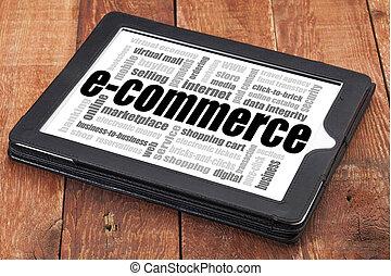 felhő, e-commerce, szó