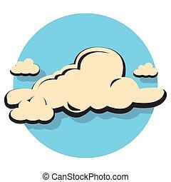 felhő, ikon, karika, lakás