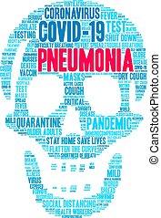 felhő, pneumonia, szó