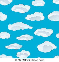 felhő, seamless, háttér