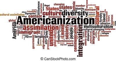felhő, szó, americanization