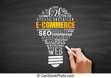 felhő, szó, gumó, e-commerce, fény
