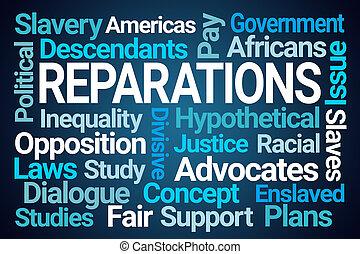felhő, szó, reparations