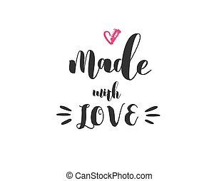 felirat, elkészített, szeret, beborítani, poszter, motivációs, modern, crafters, -, árajánlatot tesz, belélegzési, művész, tervezés