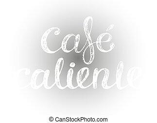felirat, kávécserje, felírás, kréta, csípős, spanish.