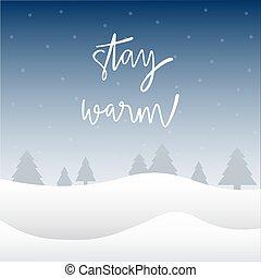 felirat, kéz, megállít, meleg, tél, háttér
