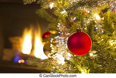 felnövés, díszítés, karácsony, piros
