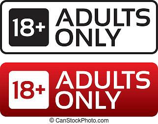 felnőttek, életkor, button., stamp., befogadóképesség, egyetlen, határ