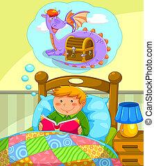 felolvasás, ágy