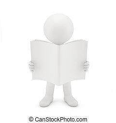 felolvasás, 3, book., ember
