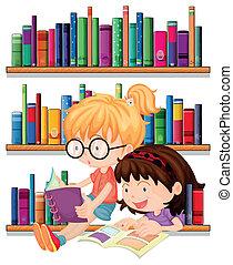 felolvasás, barátok, két