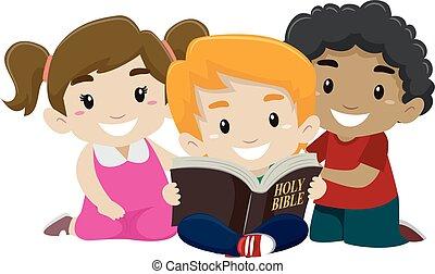 felolvasás, biblia, gyerekek