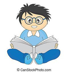 felolvasás, boldog, gyermek